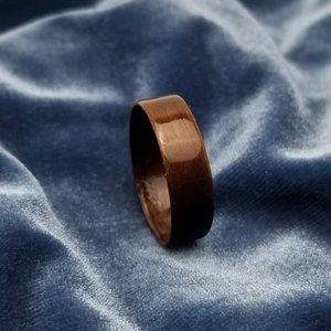Bentwood Ring Hand Crafted from Walnut Size 15
